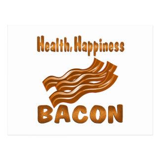 Health Happiness Bacon Postcard