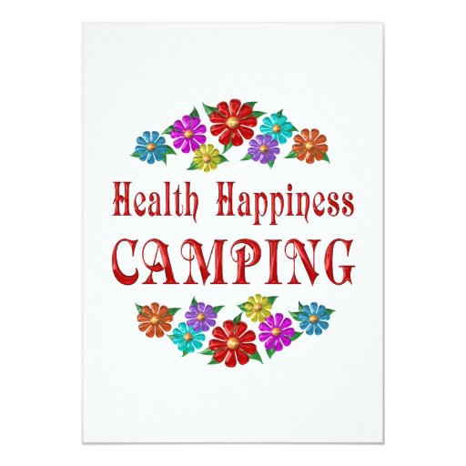 Health Happiness Camping Card