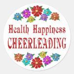 Health Happiness Cheerleading Sticker