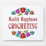 Health Happiness Crocheting Mousepad