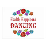 Health Happiness Dancing Post Cards