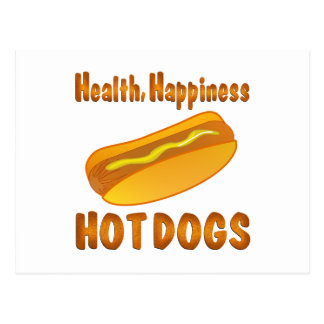 Health Happiness Hot Dogs Postcard