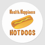 Health Happiness Hot Dogs Sticker