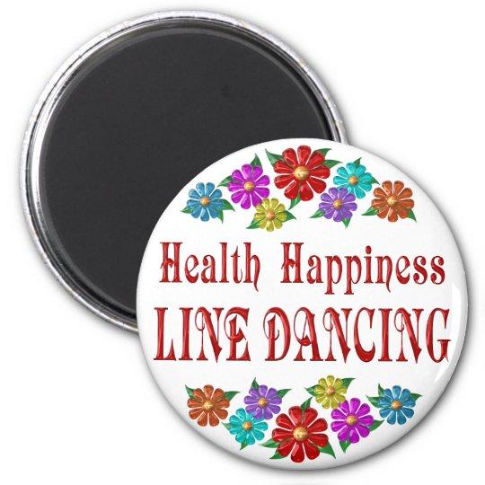 Health Happiness Line Dancing Magnet