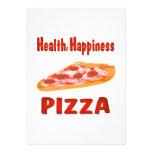 Health Happiness Pizza Invites