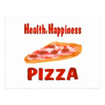 Health Happiness Pizza Postcards