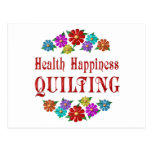 Health Happiness Quilting Post Card