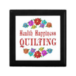 Health Happiness Quilting Trinket Box