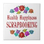 Health Happiness Scrapbooking Ceramic Tiles