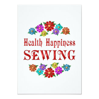 Health Happiness Sewing 5x7 Paper Invitation Card