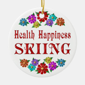 Health Happiness Skiing Ornament