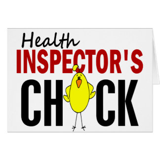 HEALTH INSPECTOR'S CHICK CARD