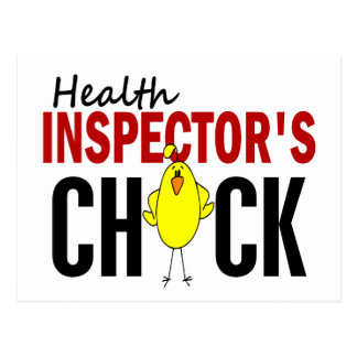 HEALTH INSPECTOR'S CHICK POSTCARDS