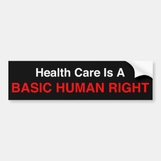 Health Insurance Bumper Sticker