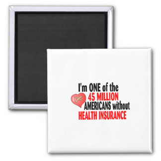 Health Insurance 2 Inch Square Magnet