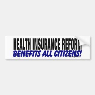 Health Insurance Reform Bumper Sticker