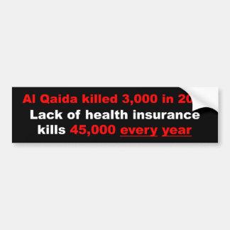 Health Insurance Reform Bumper Sticker Car Bumper Sticker
