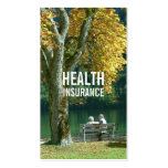 Health Insurance Senior Couple & Tree Double-Sided Standard Business Cards (Pack Of 100)