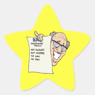 Health Insurance Star Sticker