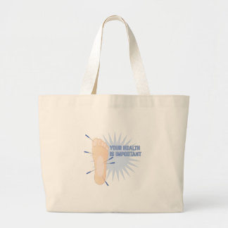 Health Is Important Large Tote Bag