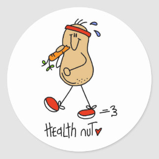 Health Nut T-shirts and Gifts Classic Round Sticker