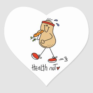 Health Nut T-shirts and Gifts Heart Sticker