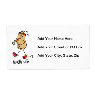 Health Nut T-shirts and Gifts Label