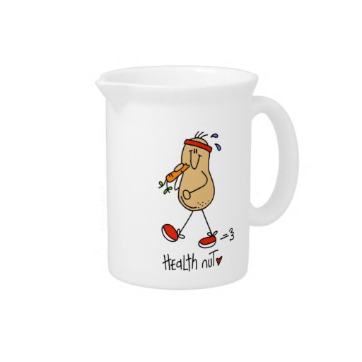 Health Nut T-shirts and Gifts Pitcher