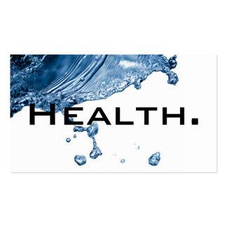 Health Professional Business Card-H2O No.2