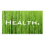 Health Professional Business Card-Natural Green Double-Sided Standard Business Cards (Pack Of 100)