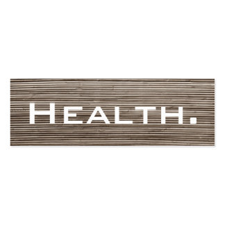 Health Professional Business Card-Skinny Double-Sided Mini Business Cards (Pack Of 20)