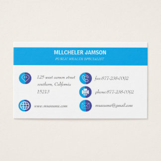 Health Specialist business cards