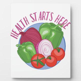 Health Starts Here Plaque