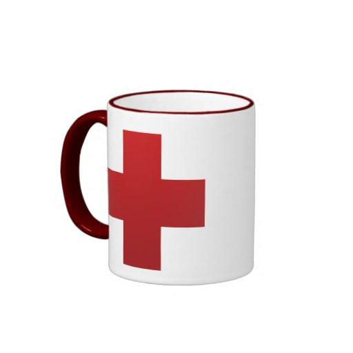 Health Symbol Ringer Coffee Mug