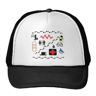 Health Symbols Trucker Hat