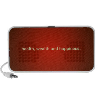 Health Wealth and Happiness Doodle Speaker