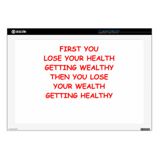 """health wealth 17"""" laptop decal"""