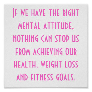 Health, Weight Loss and Fitness Goals Poster