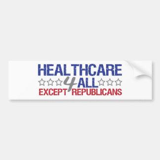 Healthcare 4 all car bumper sticker