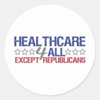 Healthcare 4 all classic round sticker