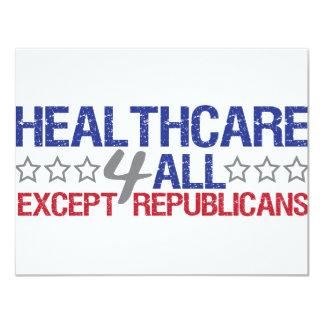"""Healthcare 4 all 4.25"""" x 5.5"""" invitation card"""