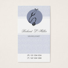 Healthcare Appointment Blue Doctor Stethoscope Business Card at Zazzle