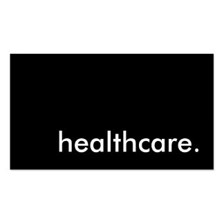 healthcare. business card