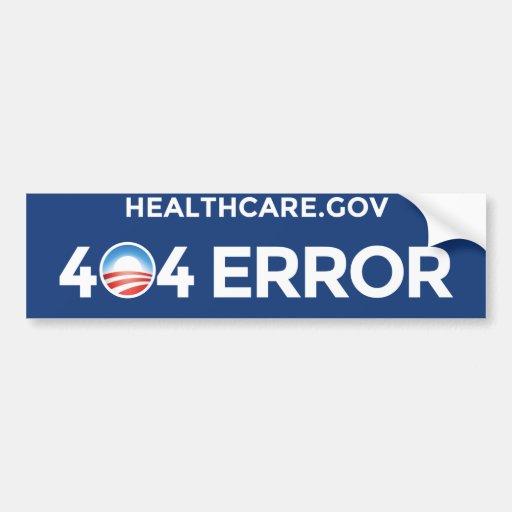 HealthCare.gov - 404 Error Bumper Stickers