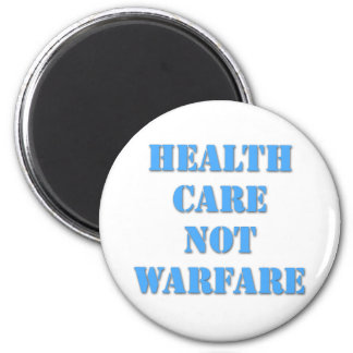 Healthcare Not Warfare Blue Magnet