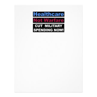 Healthcare Not Warfare Letterhead