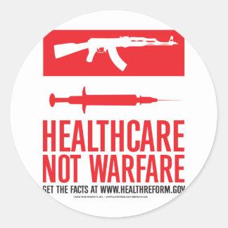 Healthcare NOT Warfare Round Stickers
