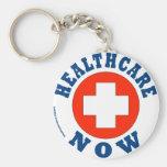 Healthcare Now! Basic Round Button Keychain