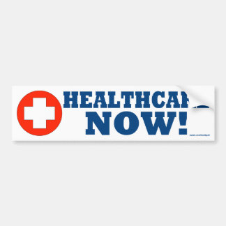 Healthcare Now! Car Bumper Sticker