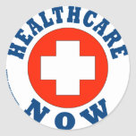 Healthcare Now! Classic Round Sticker